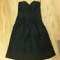 Strapless black lace American rag dress L Like new. Zips on side. Padded cups. Juniors sizing American Rag Dresses Mini