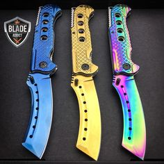 "We just added these new colors of our cleaver blade...available now! Let us know which one is your favorite? Comment below. - Search ""cleaver"" at www.megaknife.com to pick one up and browse our new year deal section (Link in @blade.addict bio) - Worldwide Shipping Facebook Megaknife"