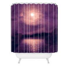 Viviana Gonzalez Purple Sunset Shower Curtain   DENY Designs Home Accessories  #DENYWISHLIST