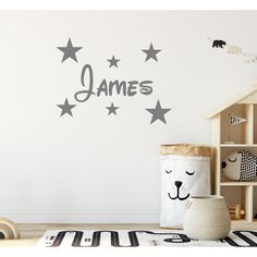 Personalised Disney Name Wall Sticker And Stars Boys Wall Stickers, Personalised Wall Stickers, Custom Wall Stickers, Wall Stickers Quotes, Name Wall Decals, Personalized Wall Art, Wall Decal Sticker, Disney Names, Room Paint