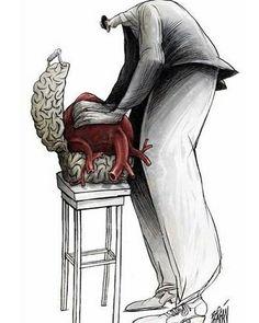 political satirical illustrator | Angel Boligán
