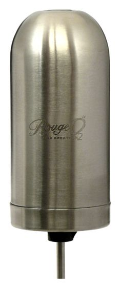 Rouge O2 Electronic Wine Breather - Stainless Steel - Item 1476 -As with our standard Rouge 02 this version in Stainless Steel enables you to enjoy wines at their best within minutes of opening.