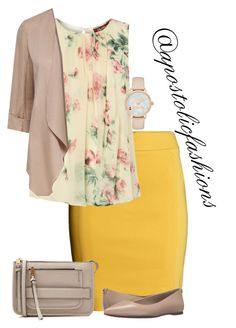 Apostolic Fashions A fashion look from February 2017 by apostolicfashions featuring MaxMara, H&M, MICHAEL Michael Kors, Marc Jacobs and Kate Spade Modest Outfits, Classy Outfits, Pretty Outfits, Casual Outfits, Cute Outfits, Modest Clothing, Women's Clothing, Long Skirt Outfits, Apostolic Fashion