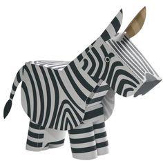 free pdf--Zebra,Toys,Paper Craft,Zebra,Mechanism,Animals,Moving,easy