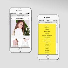 Mobile version Cottonink website @cottonink #mobile #cottonink #brownfox #brownfoxstudio #digital #design #graphicdesign #studio #studiodesign #fashion #ecommerce by brownfoxstudio