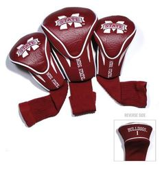 Mississippi State Bulldogs Contour Gollf Club HeadCover - 3 Pack