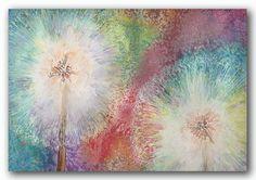 Dandelion Watercolour Giclee Fine Art by MelaniePearsonDesign