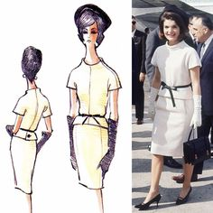 outfits oleg cassini designed for jackie kennedy Jacqueline Kennedy Onassis, Jackie Kennedy Style, Lou Fashion, Estilo Fashion, Fashion Over 50, Os Kennedy, Frocks And Gowns, Special Dresses, Hollywood