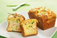 Cake au saumon de Norvège, courgette et ricotta