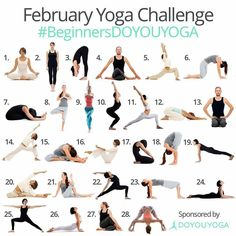 Let's take the February Yoga Challenge together and have fun #doyouyoga #movitation #yogachallenge2017