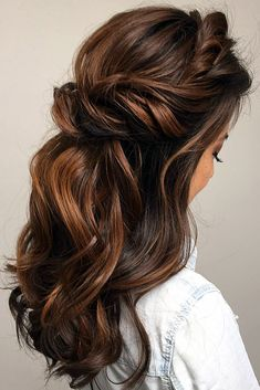 pinterest wedding hairstyles half up half down on brown hair bridal hair toronto via instagram