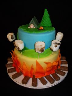 camping cakes | Camping cake — Children's Birthday Cakes