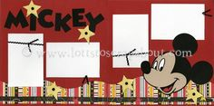 disney scrapbook layout Mickey!!!