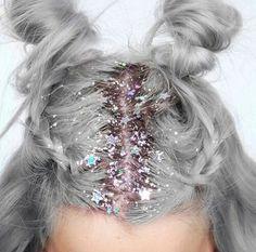 Картинка с тегом «hair, glitter, and stars»