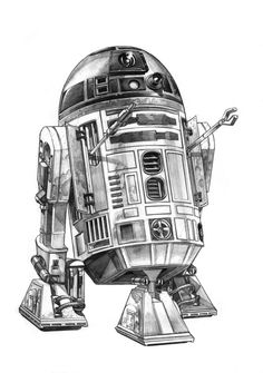 Star Wars - R2-D2 by Robert Atkins (for Star Wars Hot Wheels box art) *