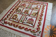 Gingerbread Village Quilt - Custom Machine Quilting by Natalia Bonner