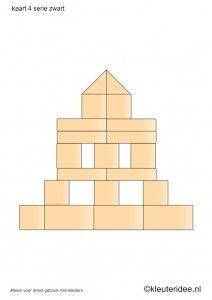 Begeleide of zelfstandige activiteit - Bouwkaarten voor de blokkenhoek