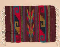 "Zapotec Wool Place Mat 16""""x20"""" (v)"