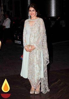Genelia D'Souza during Bollywood actor Shahid Kapoor wedding reception in Mumbai, India