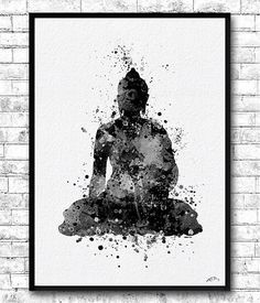 Instant Digital Download Buddha 2 Watercolor Print by ArtsPrint