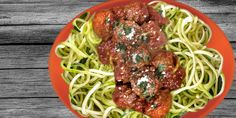 Turkey Meatballs Marinara with Zucchini Noodles