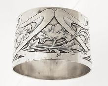 Antique Art Nouveau French Sterling Silver 950 Napkin Ring