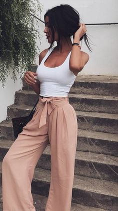 trendy summer outfit top + pants