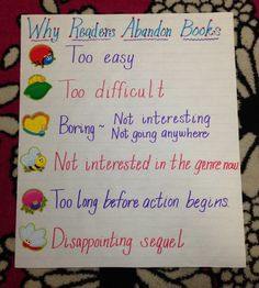 Why Readers Abandon Books Chart