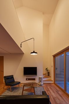 Loft Design, House Design, Japanese Living Rooms, Kitchen Dinning Room, Light My Fire, Architecture Design, Sweet Home, New Homes, Ceiling Lights