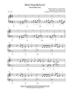 Don't Stop Believin' by Journey Piano Sheet Music | Intermediate Level