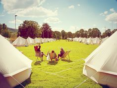 Bell tent village. Glamping with Glampit.com