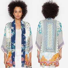 New arrivals from @johnnywasclothing arrived today. One of our spring favorites is this beautiful mixed printed kimono!  #newarrivals #johnnywasclothing #springfashion #makeyourwardrobesing #ziabirdonline