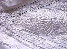 $200 US Hand Embroidered Ayrshire White Work Christening Dress and bonnet. A stunning exquisitely hand embroidered dress