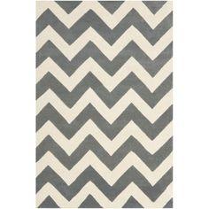 Safavieh Handmade Moroccan Chatham Chevron Dark Grey/ Ivory Wool Rug (4' x 6') | Overstock.com Shopping - Great Deals on Safavieh 3x5 - 4x6 Rugs