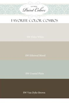love these colors {similar to my house, only mine are Benjamin Moore}