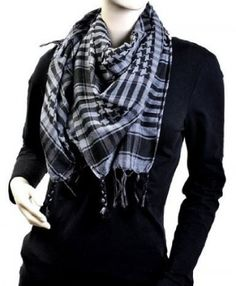 Black And Grey Arab Shemagh Houndstooth Scarf, Plaid Scarf, Mens Scarf Fashion, Shemagh Scarf, Arab Scarf, Wholesale Scarves, Head Scarf Styles, Stylish Hats, Square Scarf