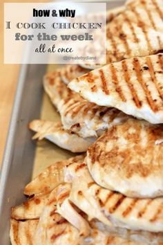 how & why I cook chicken for the week all at once @createdbydiane with EASY DINNER IDEAS