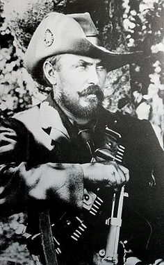 Louis Botha, Commander-in-chief of the Transvaal Boers, fighting with impressive capability at Colenso and Spion kop.  After the fall of Pretoria, he led a concerted guerrilla campaign  against the British.