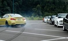The 2015 M4 Drifts Through BMW History In Smokey Initiation Video – Yet, Somehow When I Do The Same Thing In A Crowded Shopping Centre Car Park, I'm The Bad Guy!