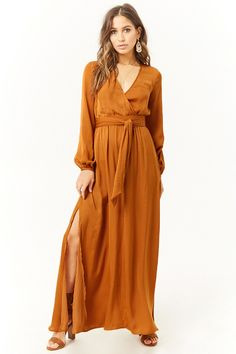 Forever 21 - Belted Surplice Maxi Dress $29.90