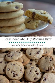 These are literally the best chocolate chip cookies ever, unless you prefer crunchy cookies over soft cookies. Then these cookies probably aren't for you. Best Chocolate Chip Cookies Recipe, Chip Cookie Recipe, Cookie Recipes, Snack Recipes, Dessert Recipes, Snacks, Best Cookies Ever, How Sweet Eats, The Ranch
