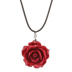 Big Red Rose Necklace – USD $ 2.99