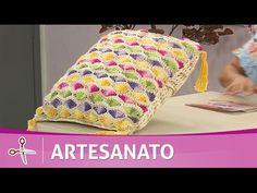 Vida com Arte | Almofada leques coloridos em crochê por Marta Araújo - 31 de Outubro de 2016 - YouTube