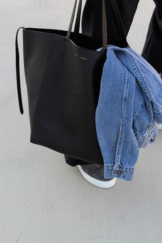 denim   leather Mix Jeans, Large Black Tote Bag, Large Leather Tote Bag, 510f56675a