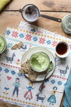 Avocado mousse and seedy brittle recipe | Sweet & Savoury | www.foodand.co.uk