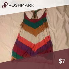 Full Tilt tank top Multi-colored tank top in great condition.  Cinched at the bottom. Full Tilt Tops Tank Tops