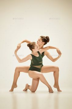 The two modern ballet dancers by on PhotoDune. The two modern ballet dancers dancing on gray studio background Dance Picture Poses, Dance Photo Shoot, Dance Poses, Dance Pictures, Jazz Dance Photography, Contemporary Dance Photography, Lyrical Dance, Acro Dance, Partner Dance