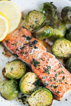 Need a healthy delicious dinner for one? This oven roasted, one pan salmon and brussel sprouts recipe is the ticket! Ready in less than 30 minutes, you'll love the flavor and how easy and healthy it is!