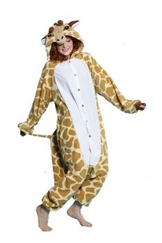 BCozy Giraffe Adult Costume This costume includes button-down jumpsuit with attached hood. Weight (lbs) Length (inches) 17 Width (inches) 14 Height(inches) 3 Adult Costumes Tan One Size MEN Everyday Unisex Adult Toddler Costumes, Adult Costumes, Cosplay Costumes, Animal Halloween Costumes, Halloween Onesie, Adult Halloween, Great Costume Ideas, Unique Costumes, Giraffe Costume