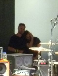 Jeff Ament and Eddie Vedder love!! Photo by Robyn Couillard I wish this was better quality.  This is going straight to the top of my favorite list!